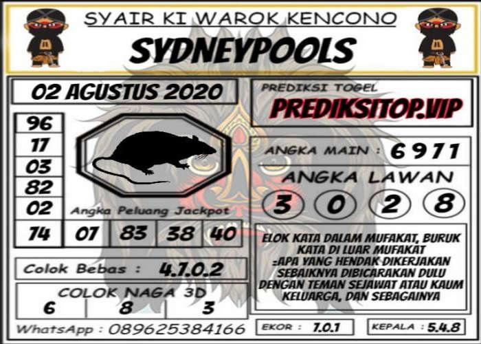 Kode syair Sydney Minggu 2 Agustus 2020 125