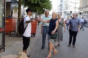 Muslim Man Offers Free Hugs In Manchester City Centre Days After Attack