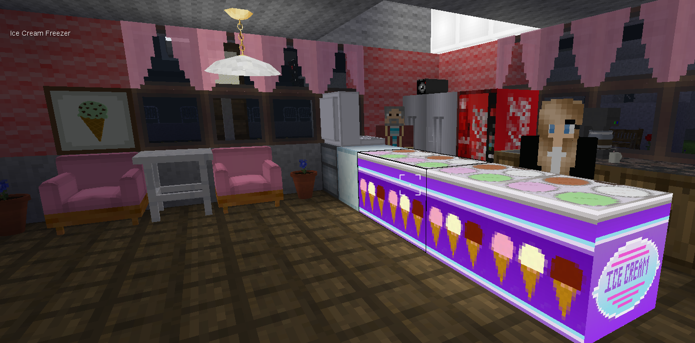 My Minetest Mods n Stuff : Ice Cream Freezer and Ice Cream for Minetest