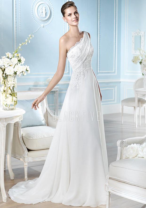 Wedding Prom Fashion Favorite Wedding Gown Neckline One Shoulder