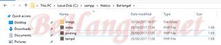 Susunan Pembuatan Folder image - BeHangat