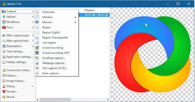 شرح برنامج ShareX لتصوير شاشة الكمبيوتر سطح المكتب بالمجان