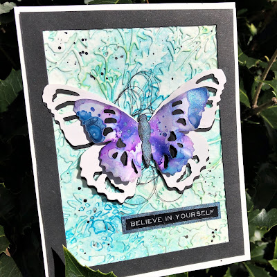 Tim Holtz Sizzix Tattered Butterfly Distress Oxide Sprays Alcohol Pearls Tutorial by Sara Emily Barker https://frillyandfunkie.blogspot.com/2019/03/saturday-showcase-tim-holtz-tattered.html 21