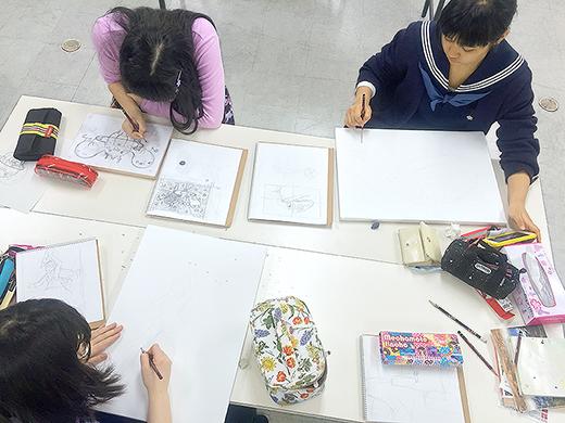 美術クラブ 横浜美術学院の中学生向け教室 ぜんぶ自分でつくる「自由制作」3
