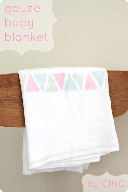Belly Baby Gauze Baby Blanket Tutorial