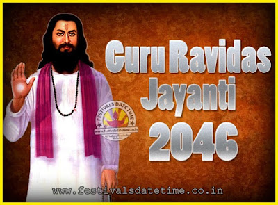 2046 Guru Ravidas Jayanti Date & Time, 2046 Ravidas Jayanti Calendar