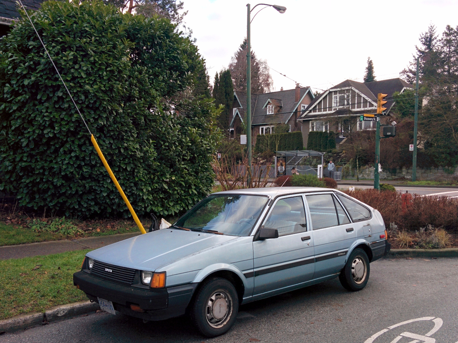 Old Parked Cars Vancouver: 1986 Toyota Corolla Hatchback