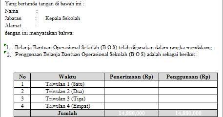 Contoh Surat Pernyataan Tanggung Jawab Kepala Sekolah ...