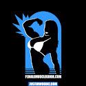 Female Muscle Guide Graphic Logo Design