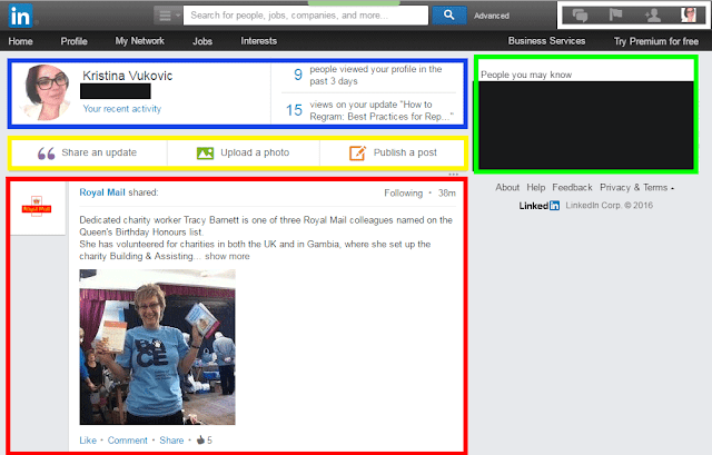 LinkediIn homepage