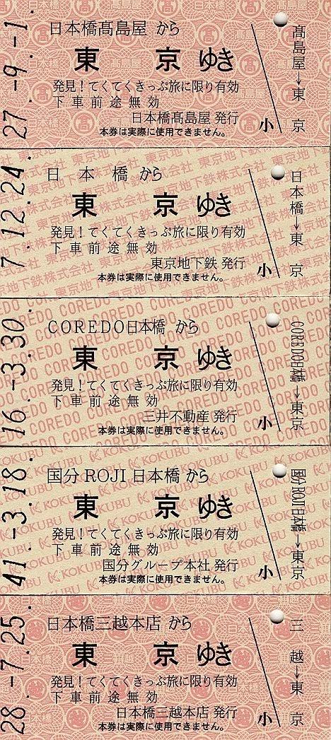 「発見! てくてくきっぷ旅」記念レプリカ硬券