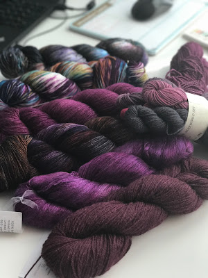 Purple Yarn Stash