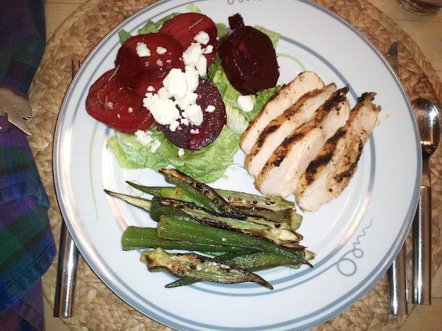Healthy Chicken Marinade on Livliga Vivente Dinner Plate