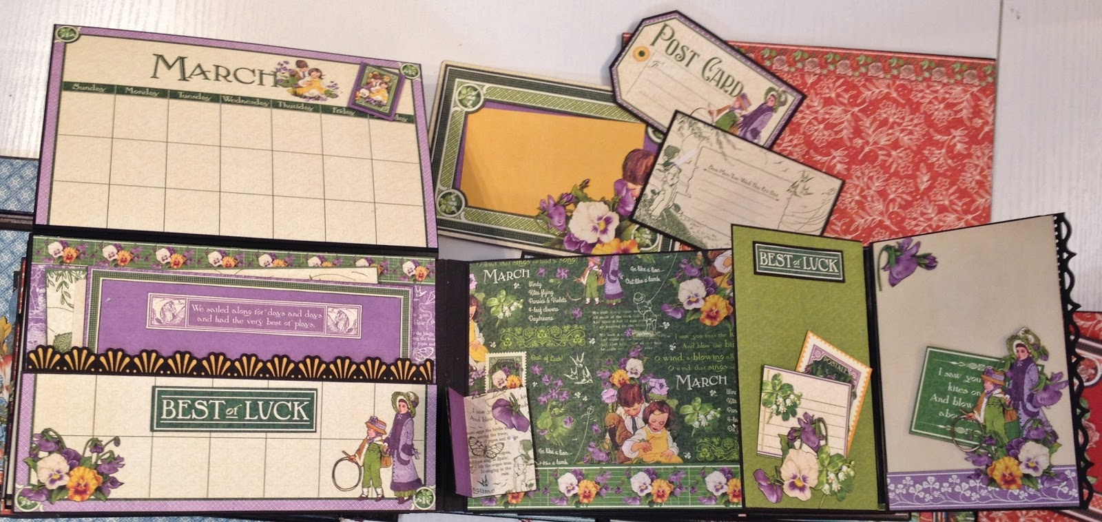Scrapbook ideas calendar pages - All The Pages Are Build Up The Same Way With The Same Tags Photo Mats And Calendar