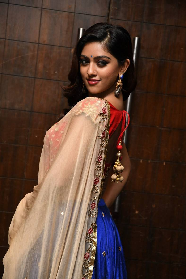 Actress Anu Emmanuel Photoshoot In Red Half Saree