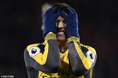 Alexis-Sanchez-left-frustrated-after-Bournemouth-Reuters