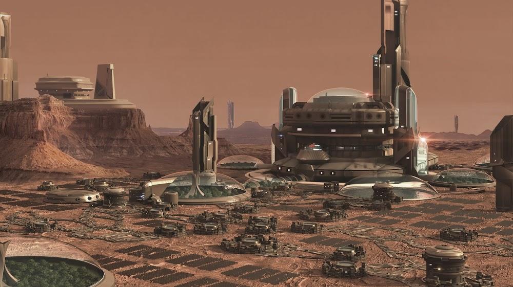 Mars colony city by Mariano Ruiz Manzano