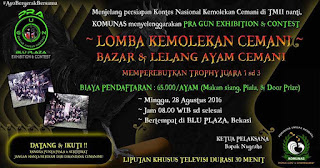 Kontes Ayam Cemani Nasional Pra GUN 2016