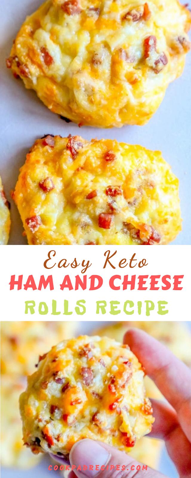 EASY KETO HAM AND CHEESE ROLLS RECIPE