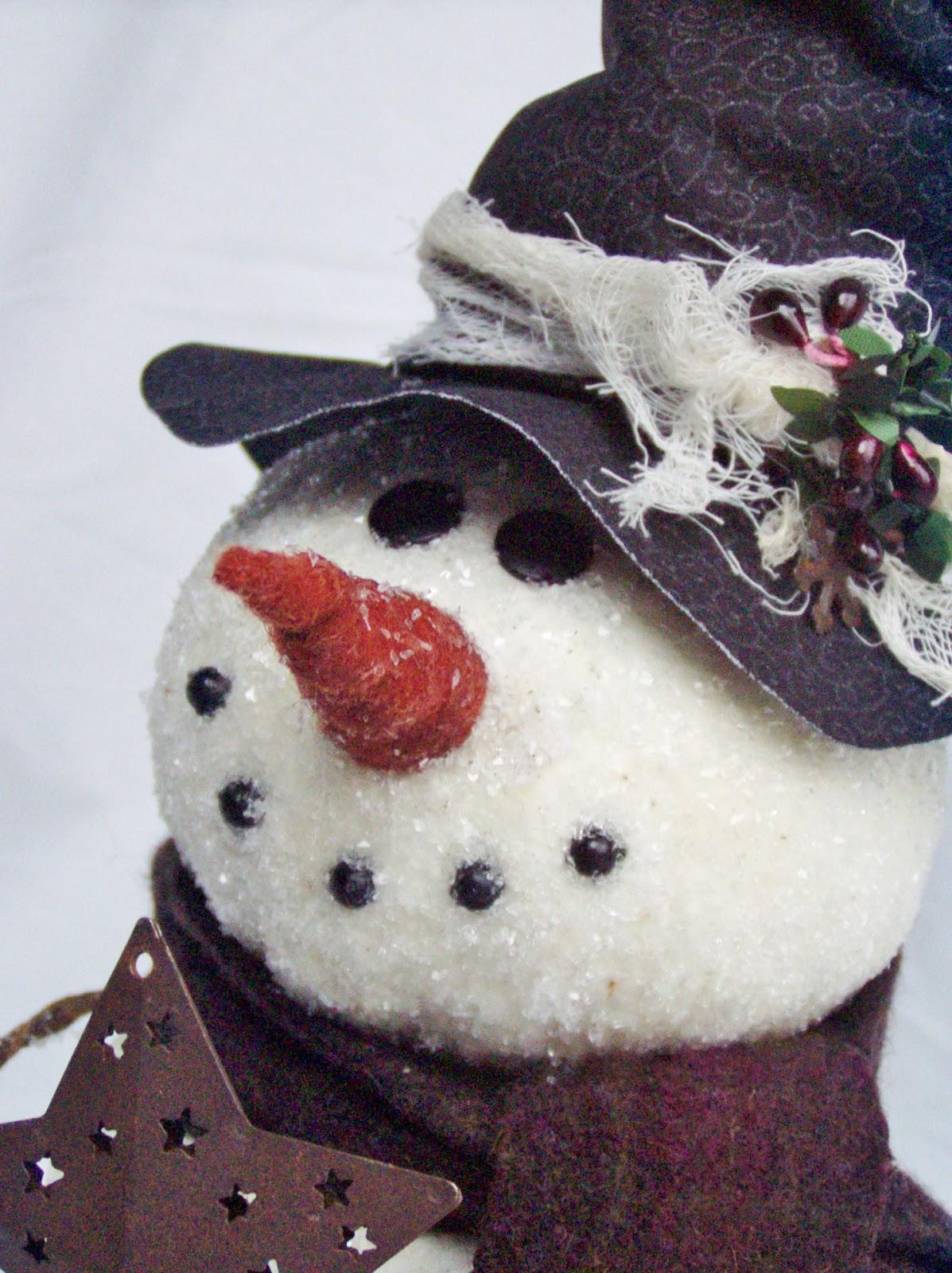 Happy Valley Primitives: A New Epattern...Meet my Snowman ...