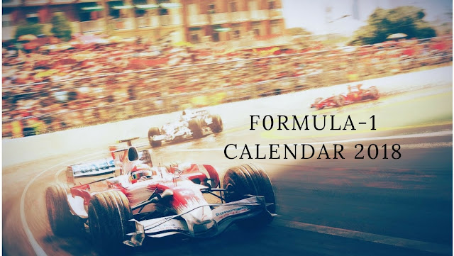 F1 Calendar 2018
