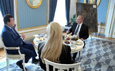 Vladimir Putin, Iosif Kobzon and Ninel Kobzon.