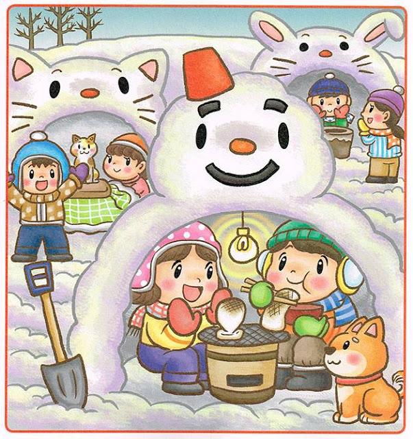 間違い探し,パズル誌,イラスト,イラストレーター検索,冬,かまくら.雪像,暖炉,子ども,動物,犬,猫,かわいい,絵本,児童書,教材,漫画
