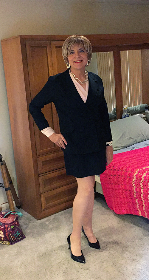 66-year-old transwoman dressing her age
