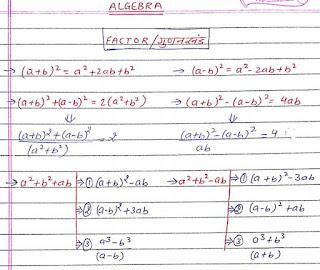 Algebra Handwritten Notes