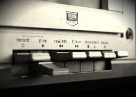 A voice recording machine.