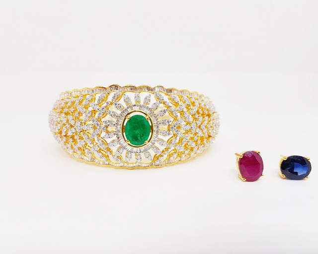 Diamond Set Changeable Bangle by Kothari jewels