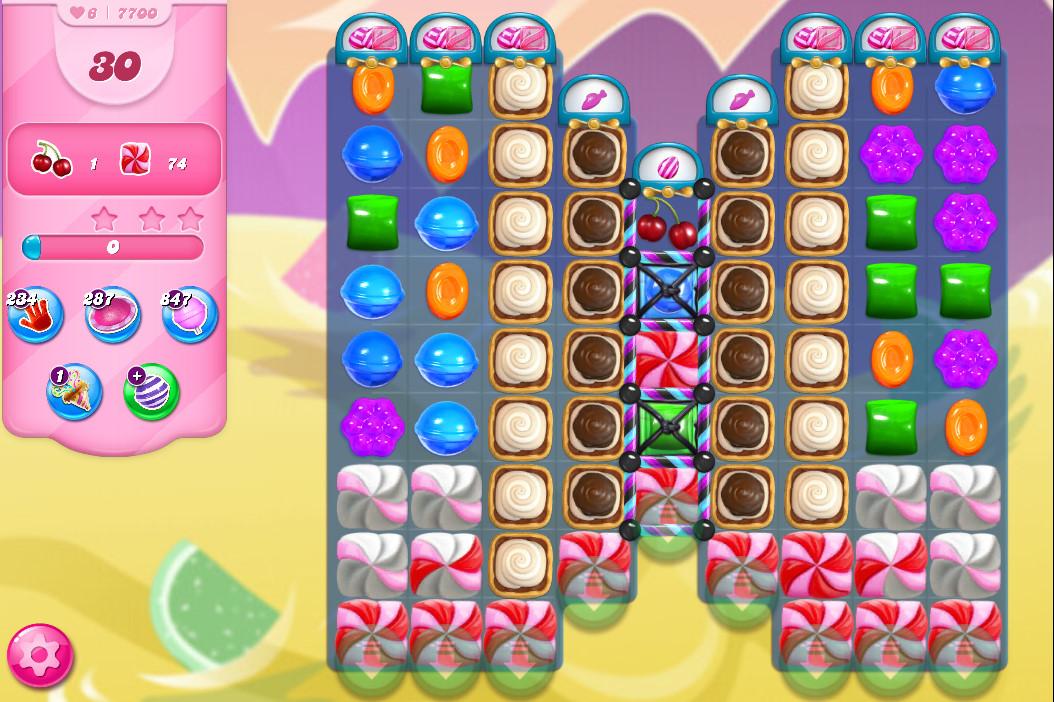 Candy Crush Saga level 7700