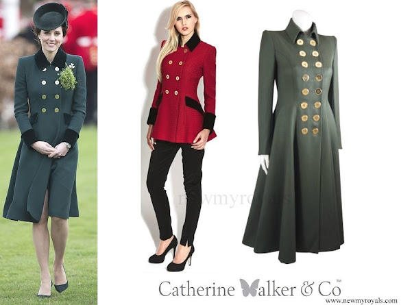 Kate Middleton wore a new Catherine Walker coat