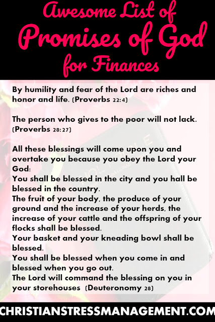 Awesome List of Promises of God for Finances