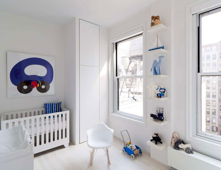 "White kid's room in Modern New York Apartment by ""Resolution: 4 Architecture"""