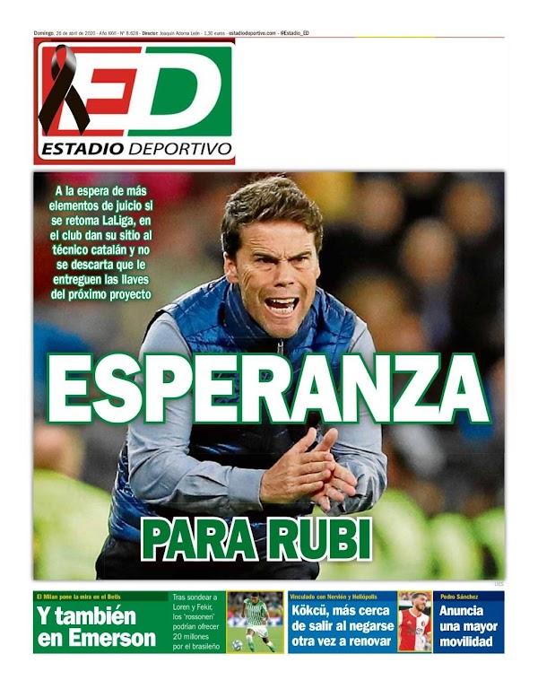 "Betis, Estadio Deportivo: ""Esperanza para Rubi"""