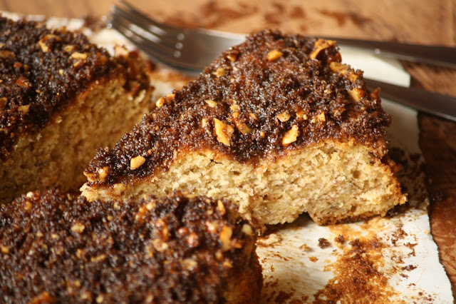 Coffeecake de banana / Brown butter banana coffeecake