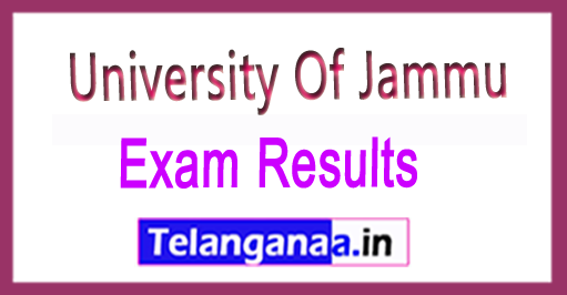 University Of Jammu BA/BSc/B.Com/BCA/BBA II Part-2018 Re-evaluation Results