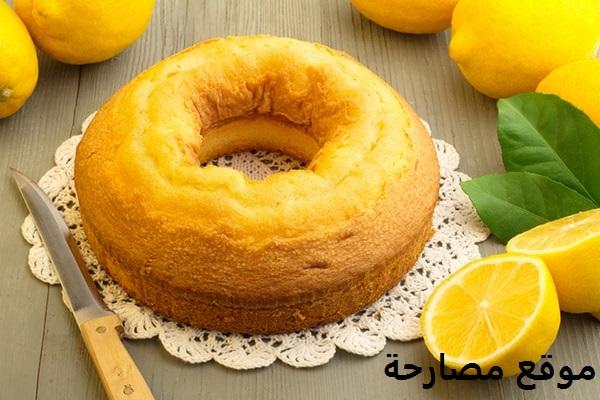 طريقة عمل كيكة الليمون