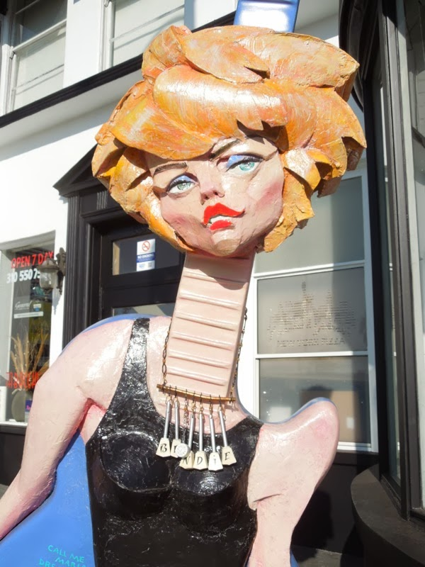 Deborah Harry Blondie tribute sculpture GuitarTown