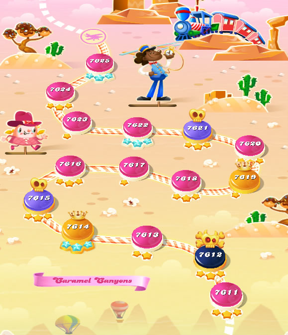 Candy Crush Saga level 7611-7625