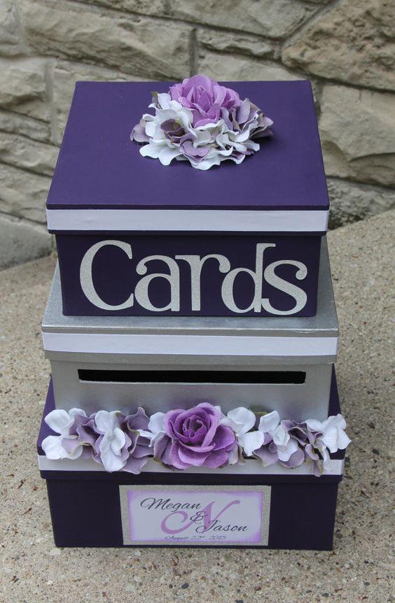 Beautiful bridal purple wedding day for Wedding mailbox decorating ideas