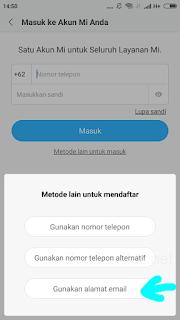 Gambar 5. Pilih Gunakan alamat email