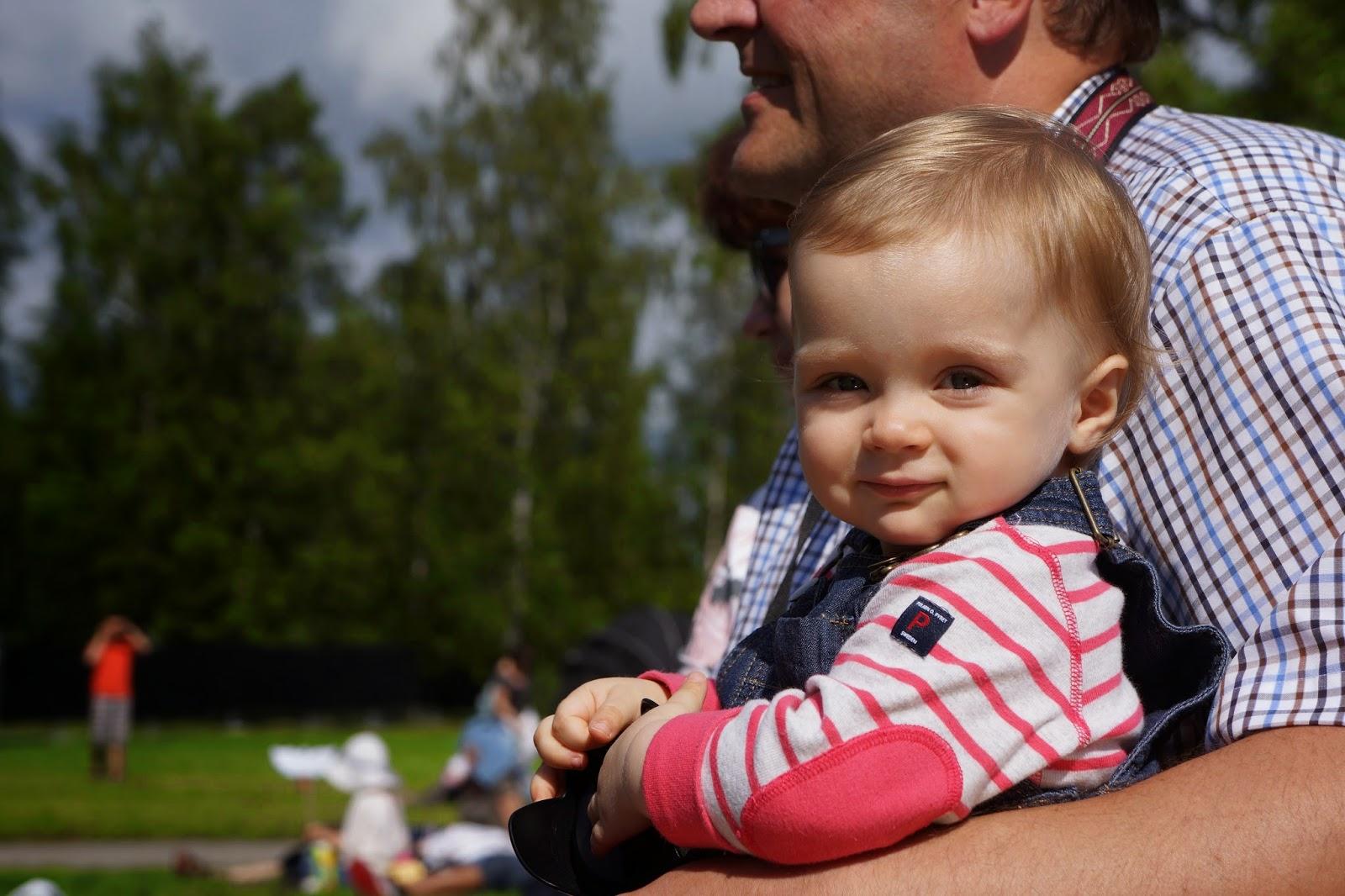 toddler girl looking at the camera