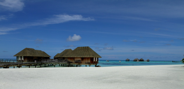 The famous overwater suites of Maldives at Club Med Kani