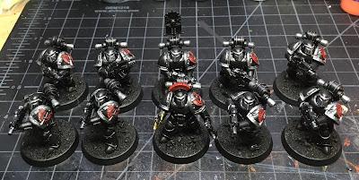 Heresy Era Legion I Dark Angels Tactical Squad WIP mark III armor