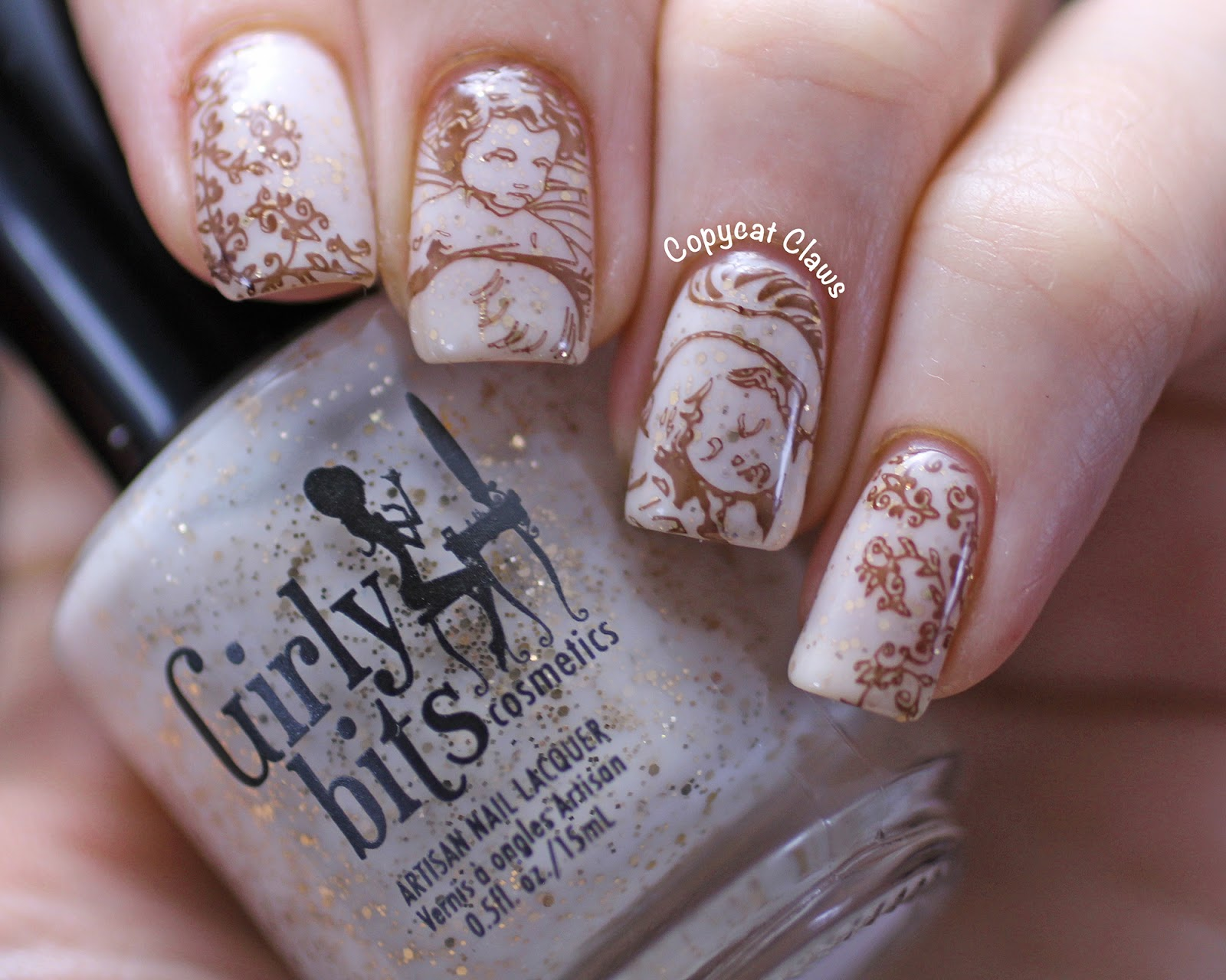 Copycat Claws Renaissance Angel Stamping