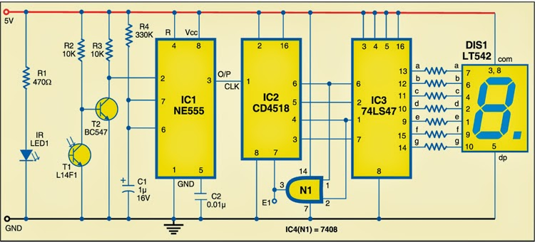 Versatile Object Counter Electronic Circuits Diagram