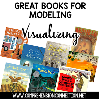 Check out these book suggestions you can use to model visualizing with your students. Freebies included.