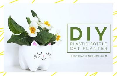 DIY ไอเดียงานประดิษฐ์แจกันดอกไม้จากขวดน้ำอัดลม